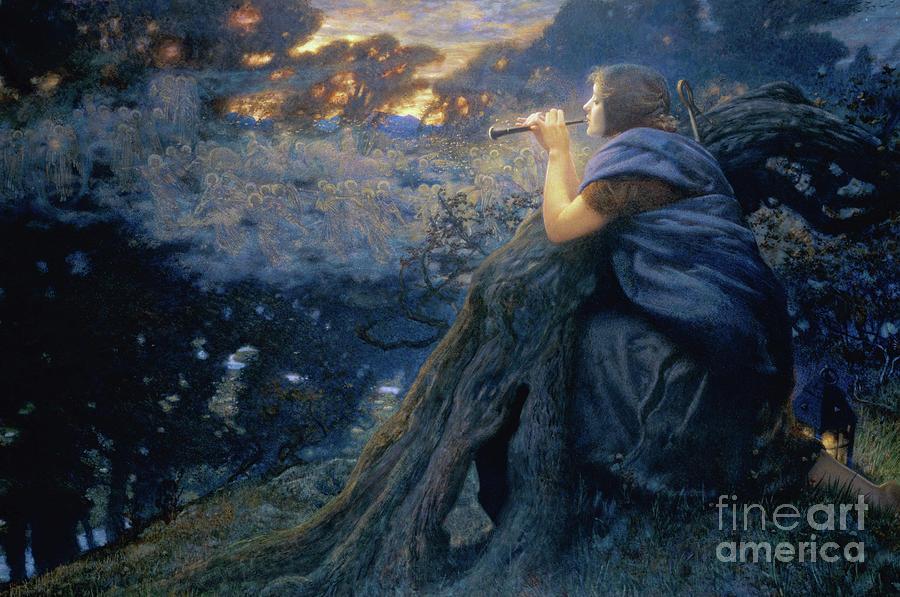 1911 Painting - Twilight Fantasies, 1911  by Edward Robert Hughes