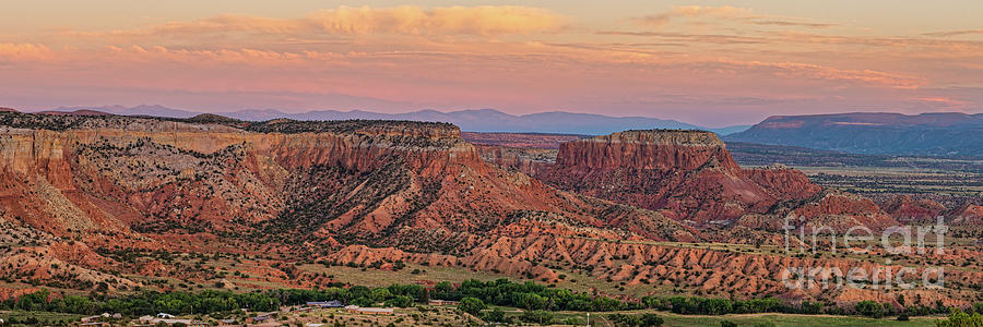 Twilight Glow on Ghost Ranch Mesas - Abiquiu Rio Arriba County New Mexico Land of Enchantment by Silvio Ligutti