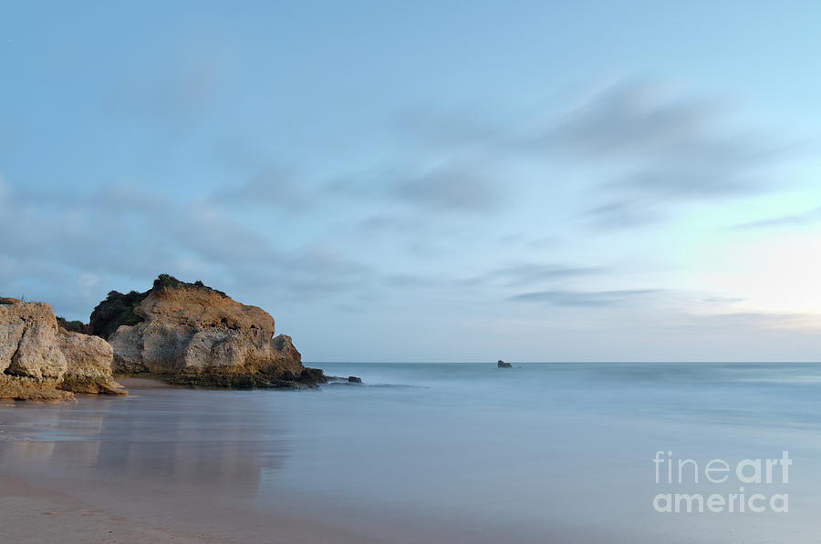Twilight in Chiringuitos beach with long exposure by Angelo DeVal