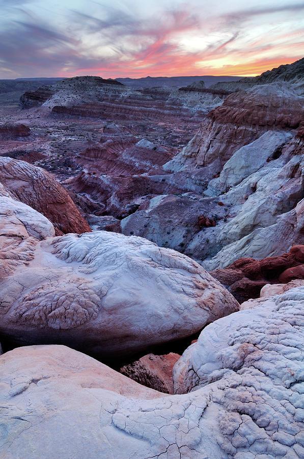 Twilight Landscape At Paria Rimrocks Photograph by Rezus