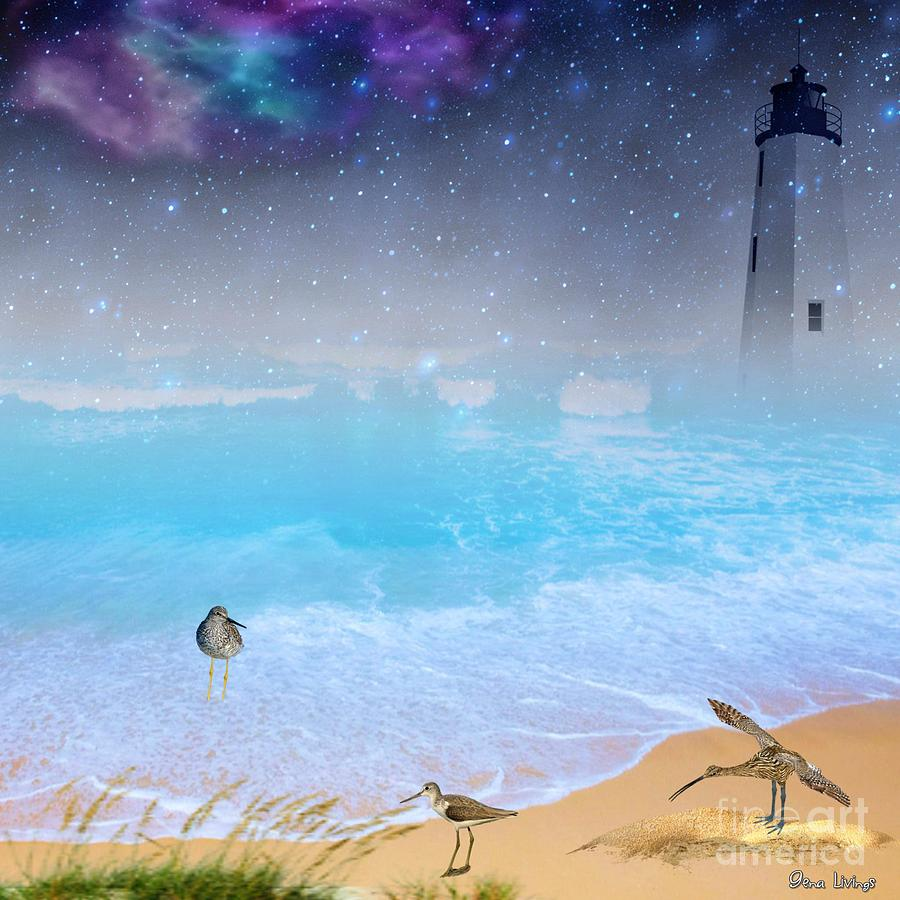 Twilight Lighthouse by Gena Livings