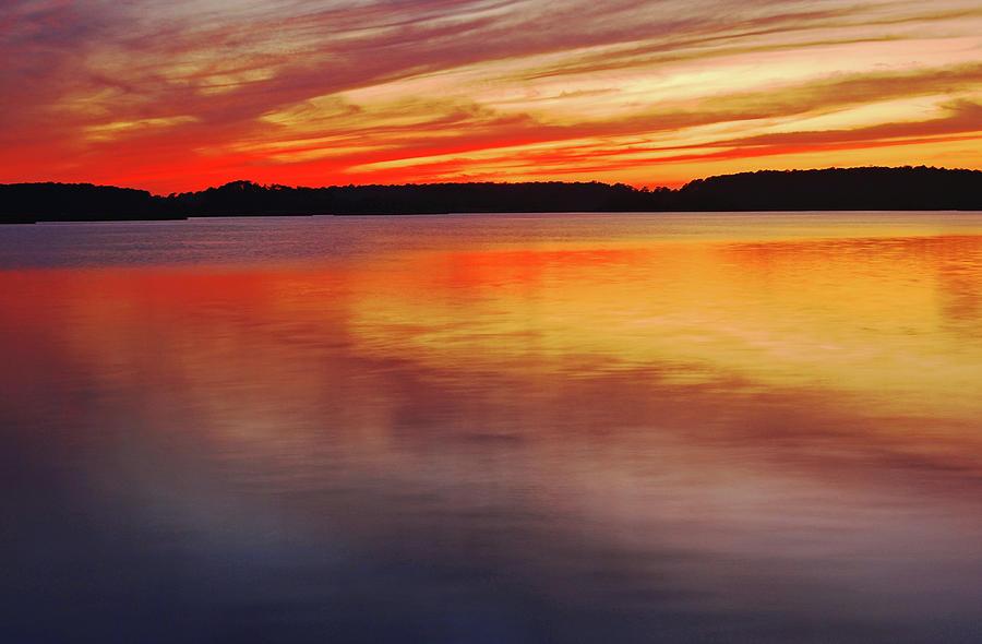 Twilight on Assateague Bay, DE by Bill Jonscher