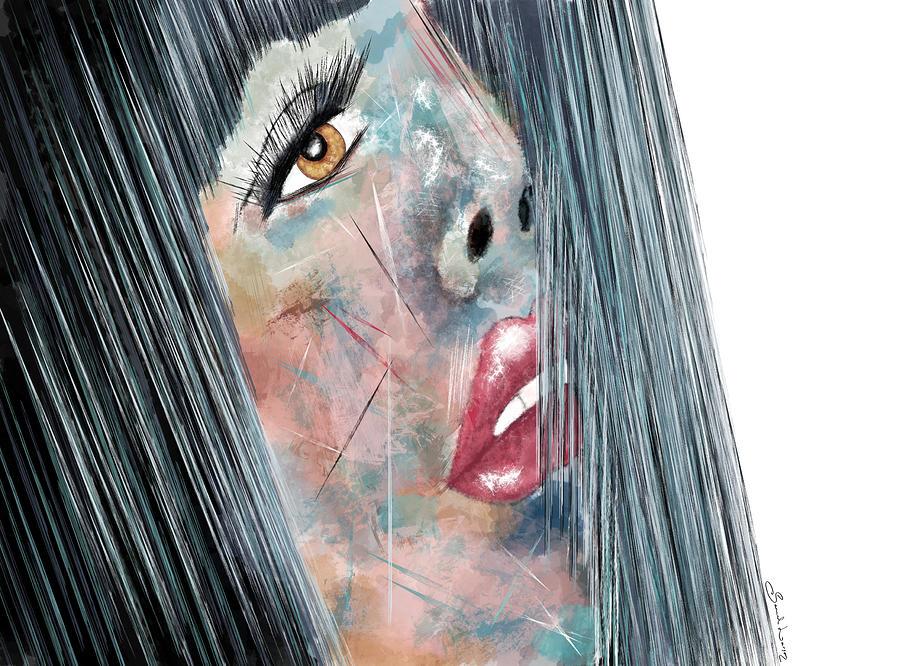 Twilight - Woman Abstract Art by Sannel Larson