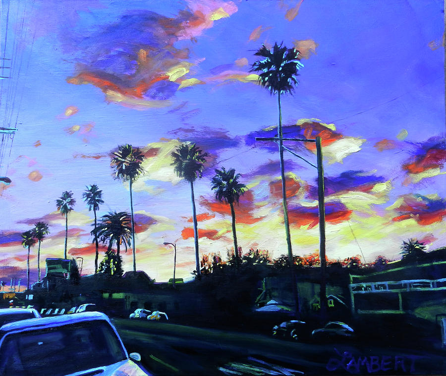 Twilight at Figueroa and 40th  by Bonnie Lambert