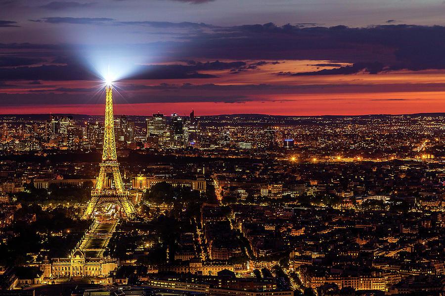 Paris Photograph - Twilight Over Paris by Andrew Soundarajan