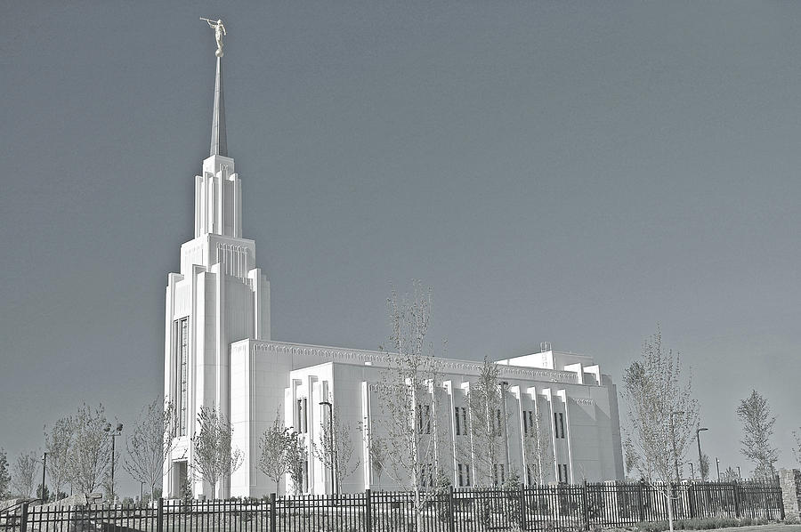 Twin Falls Idaho Lds Temple Photograph by Nick Boren Photography