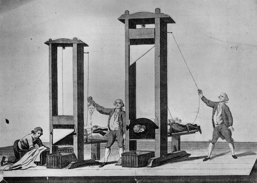 Twin Guillotines Digital Art by Hulton Archive