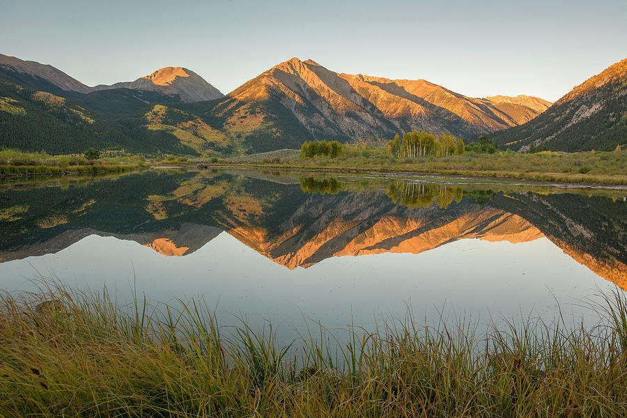 Twin Lakes Reflection - Autumn by Aaron Spong
