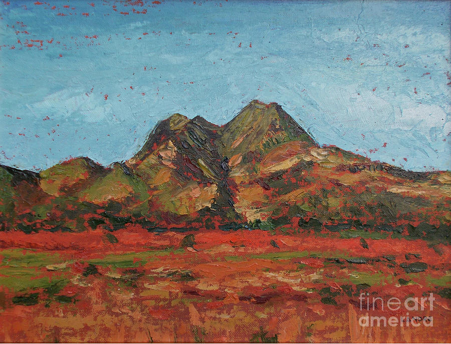 Mountain Painting - Twin Sisters by Lilibeth Andre