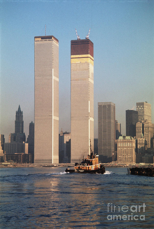 Twin Towers During Construction Photograph by Bettmann