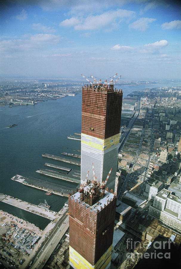 Twin Towers Under Construction Photograph by Bettmann