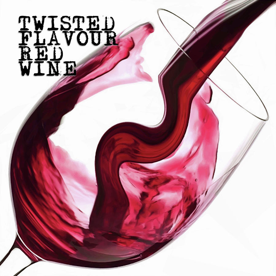 Twisted Flavour Red Wine Digital Art