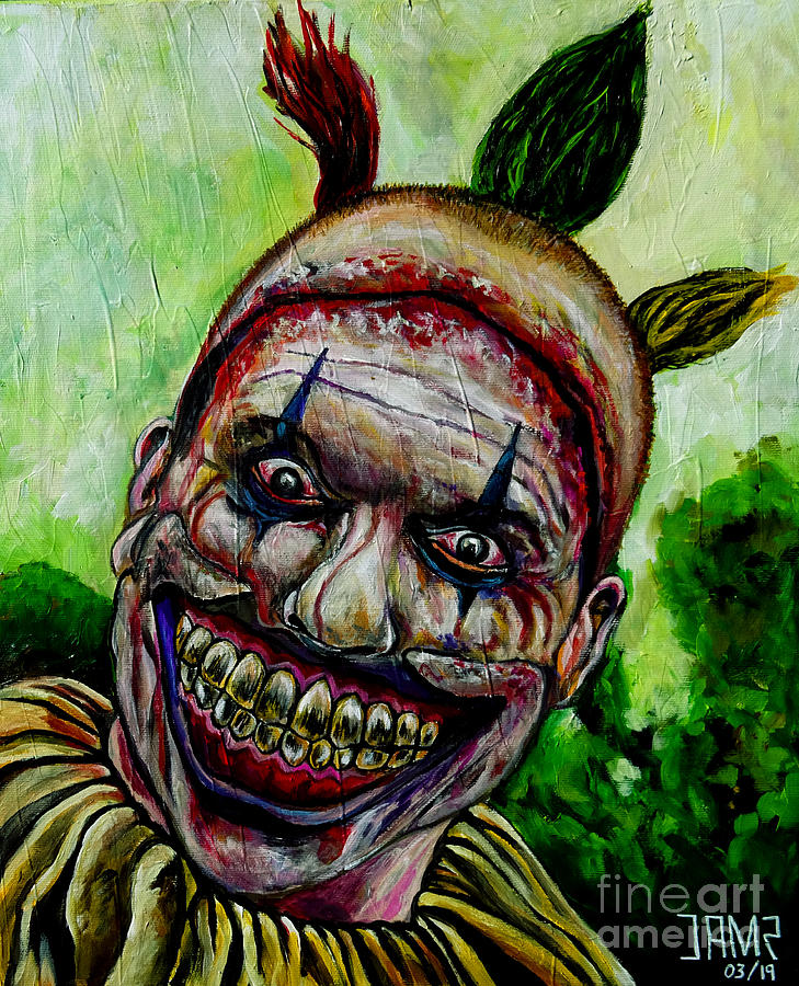 Twisty The Clown Painting - Twisty the clown by Jose Mendez