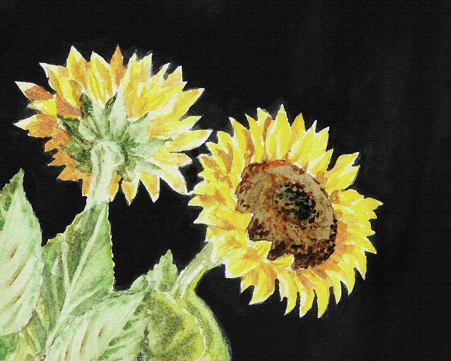 Two Autumn Sunflowers by Irina Sztukowski