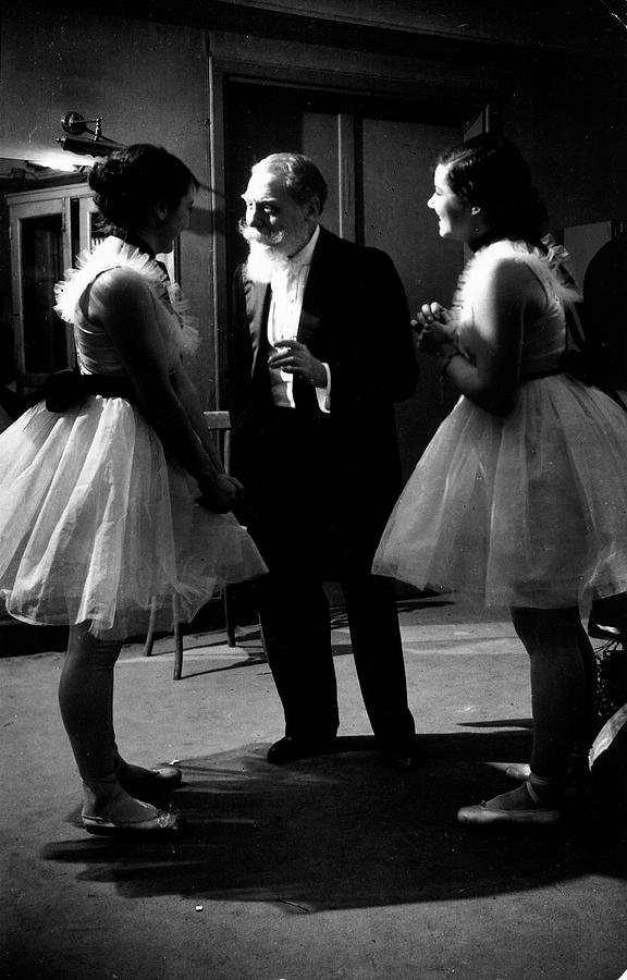 Two Ballerinas Receiving Instruction Photograph by Pictures Inc.