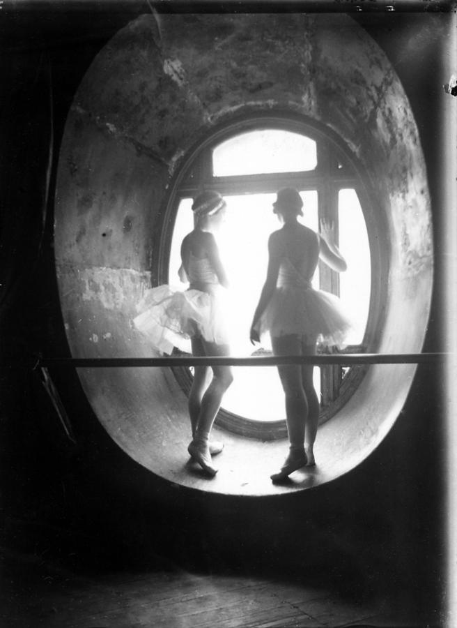 Two Ballerinas Standing In Window Of Photograph by Alfred Eisenstaedt