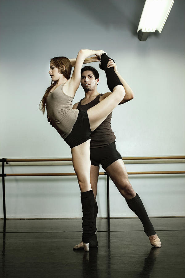 Two Ballet Dancers In Rehearsal At Photograph by Patrik Giardino