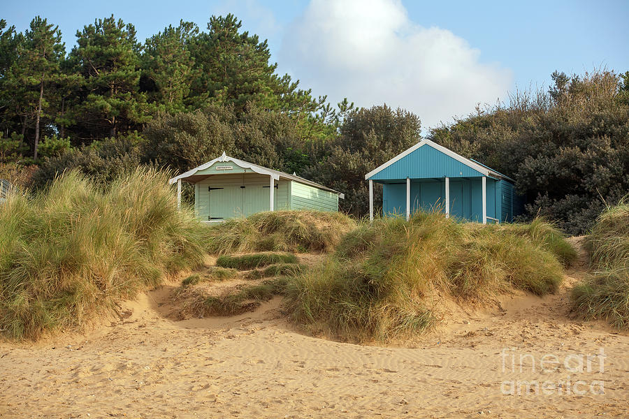Two beach huts at Old Hunstanton by John Edwards