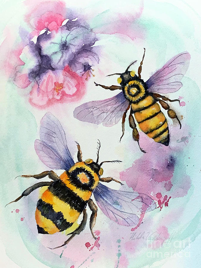 Two Bees by Hilda Vandergriff