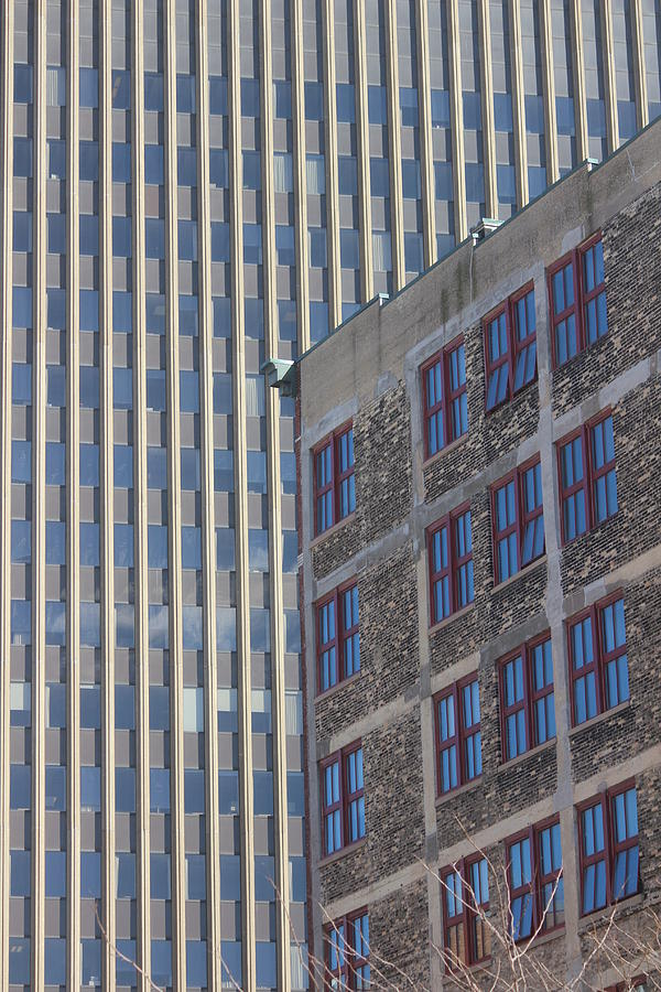 Milwaukee Photograph - Two Buildings, Downtown Milwaukee by Callen Harty