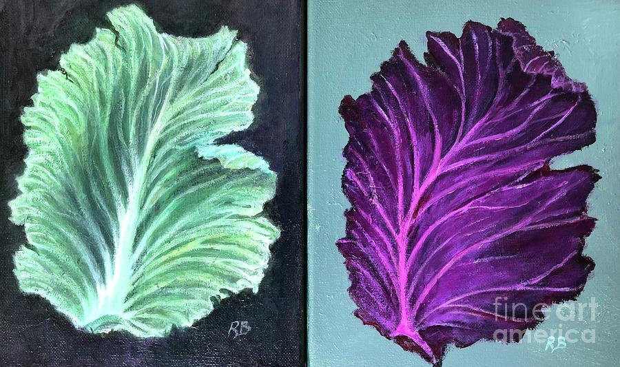 Two Cabbage Leaves by Randy Burns