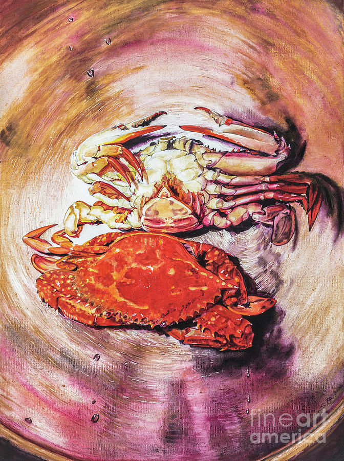 Two Crabs in a Wok by Sandra Phryce-Jones