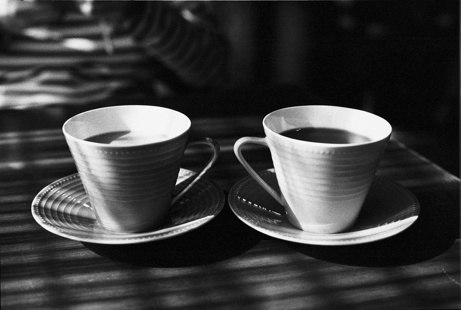 Two Cups Of Coffee In Sunlight Photograph by Breeze.kaze