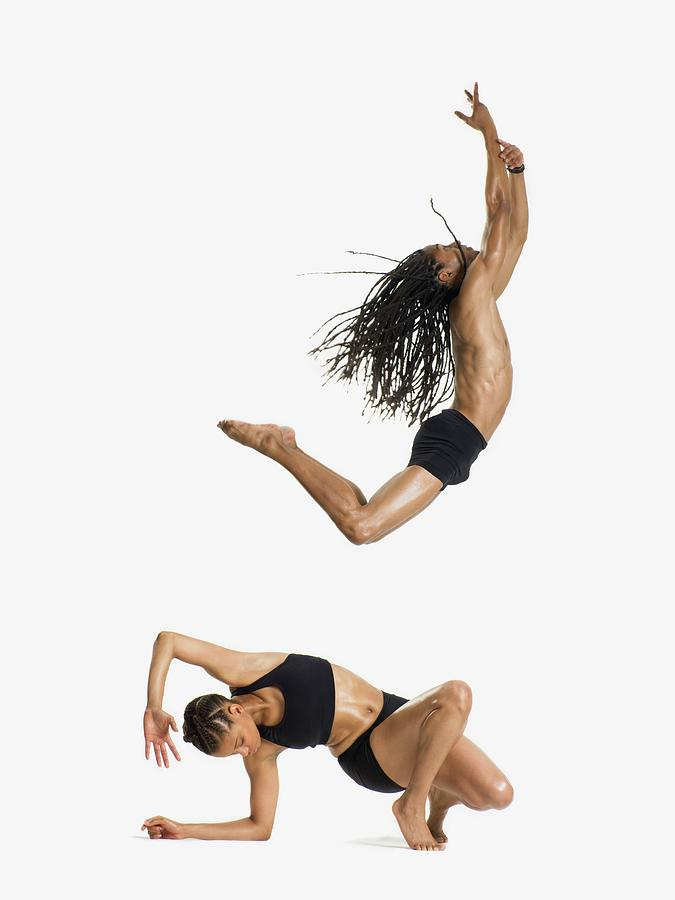 Two Dancers Performing Photograph by Image Source