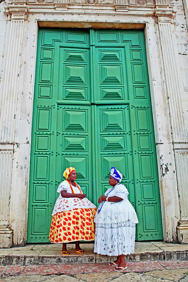 Two Female Street Buskers In Photograph by John W Banagan