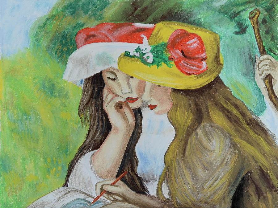 Two Girls after Renoir by Howard Bagley