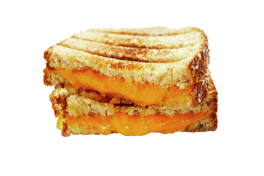Two Halves Of Grilled Cheese Sandwich Photograph by Thomas Northcut