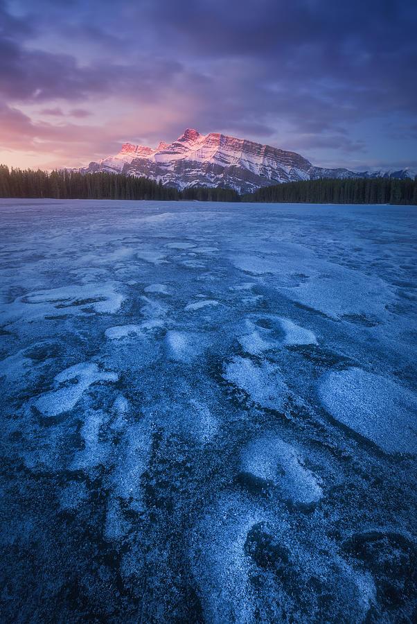 Two Jack Lake Photograph by Carlos F. Turienzo