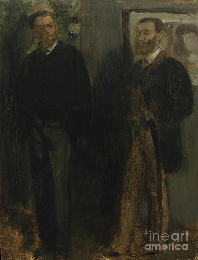 Two Men Drawing by Heritage Images
