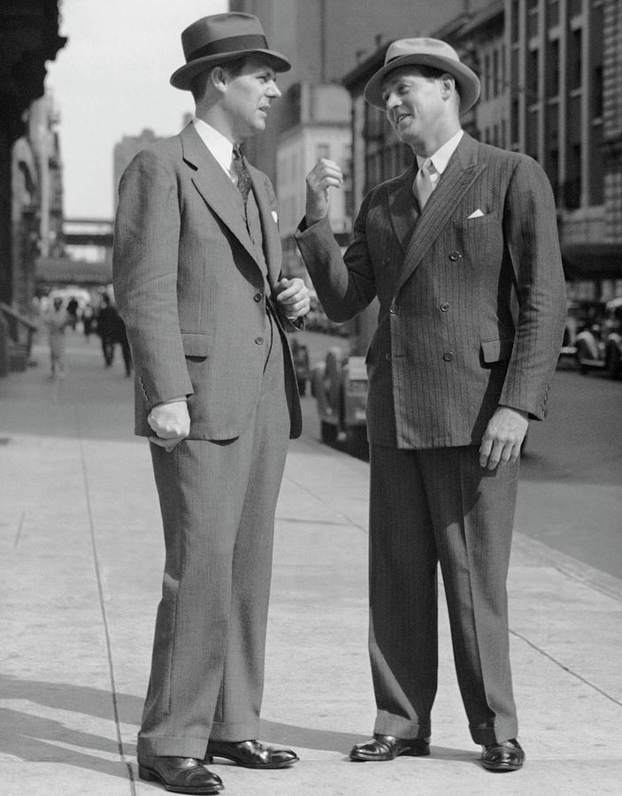 Two Men Talking On Street Photograph by George Marks