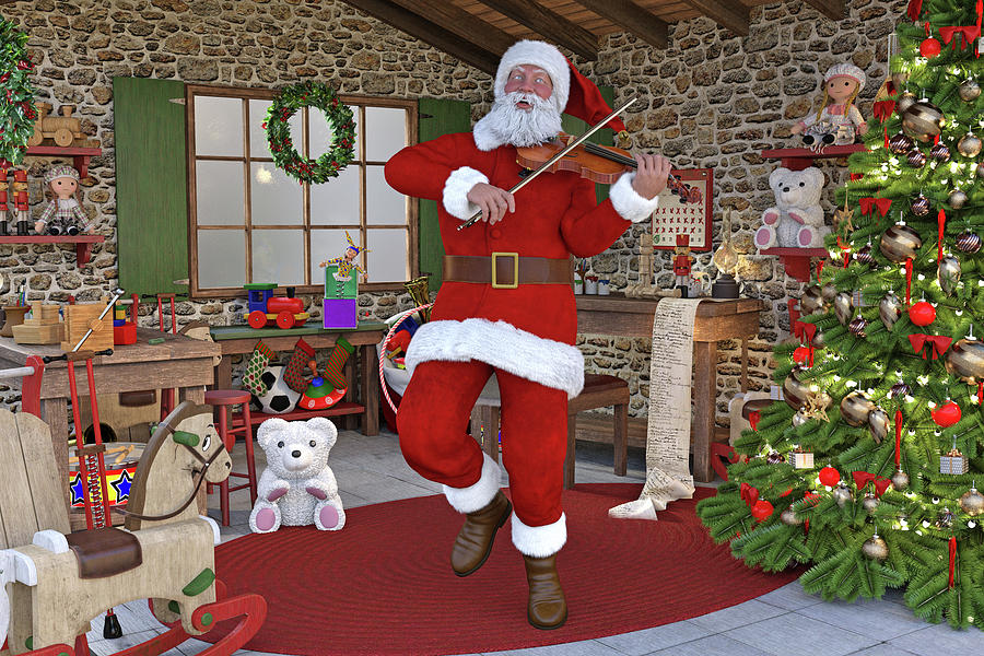 Christmas Digital Art - Two Nights Before Christmas by Betsy Knapp