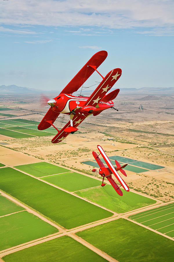 Two Pitts Special S-2a Aerobatic Photograph by Scott Germain/stocktrek Images