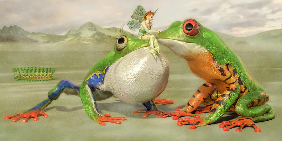 Frog Digital Art - Two Princes by Betsy Knapp