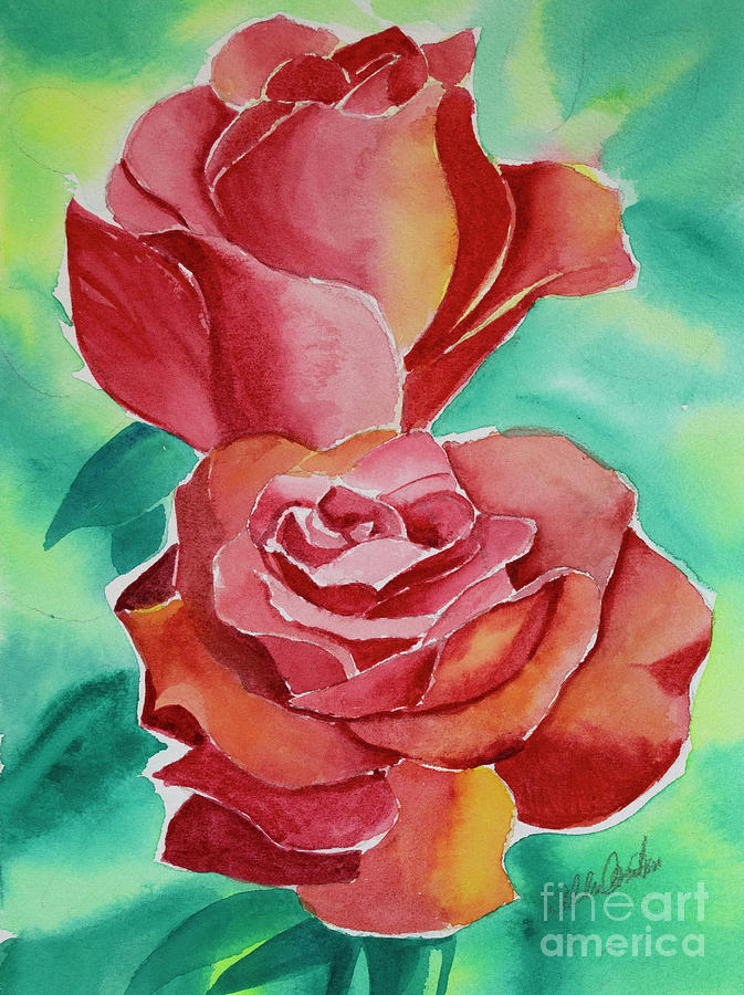 Two Roses Painting