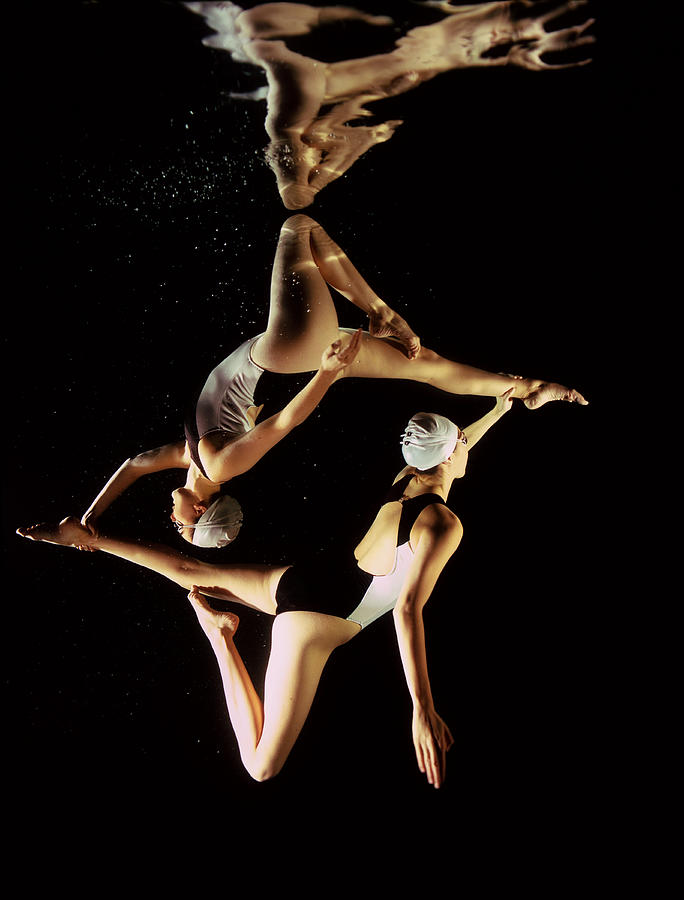 Two Synchronised Swimmers, Underwater Photograph by Zac Macaulay