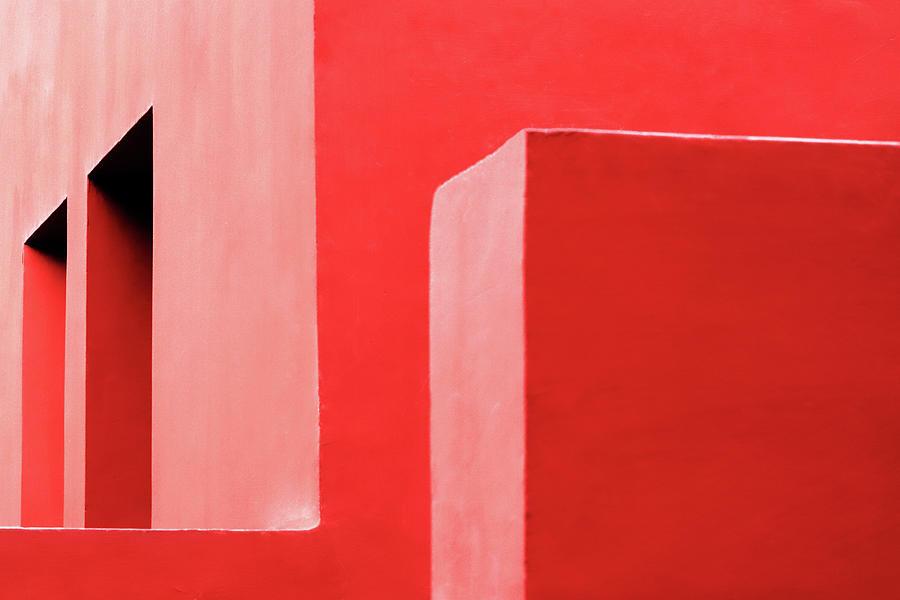 Two Windows Red Walls by Prakash Ghai