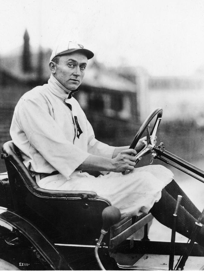 Ty Cobb Driving Car In Uniform Photograph by Authenticated News