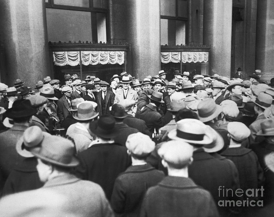 Ty Cobb,other Man In Crowd Leaving Offic Photograph by Bettmann