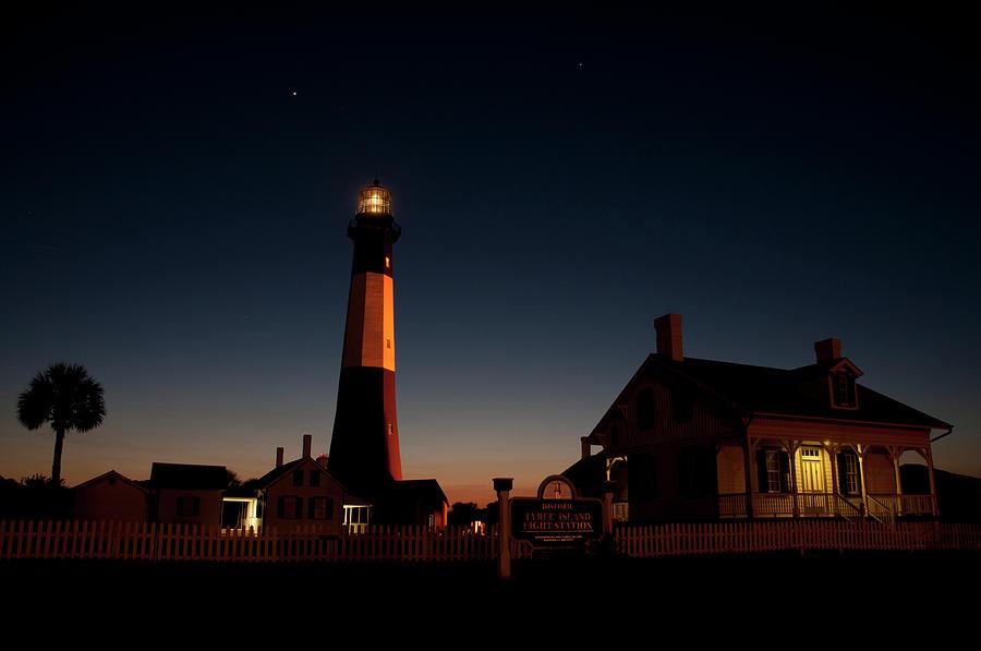 Tybee Island Lighthouse Photograph - Sundown at Tybee Island Light by Cinnamon Sky Photography