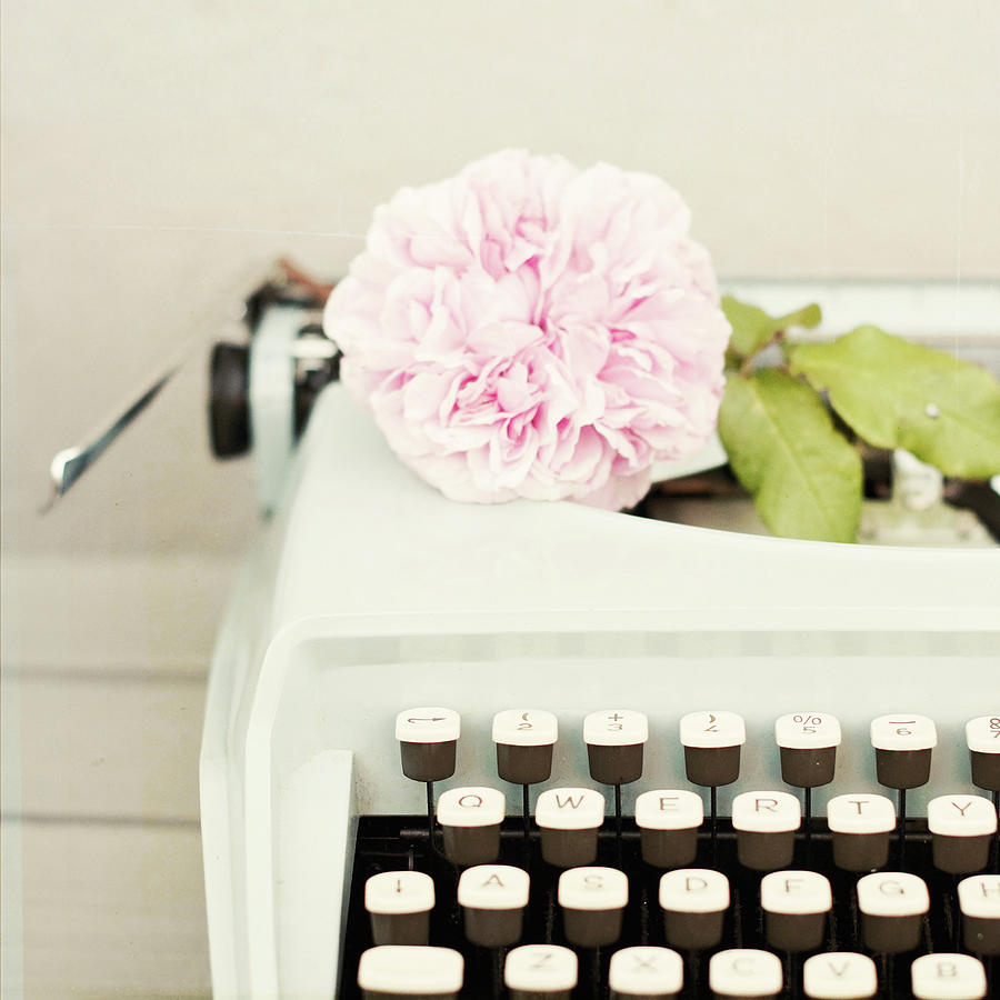 Typewriter And Rose Photograph by Karin A Photography