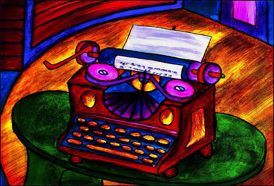 Typewriter Painting - Typewriter by Hugo Heikenwaelder