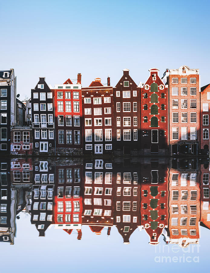Typical Dutch Houses Reflections Photograph by Serts