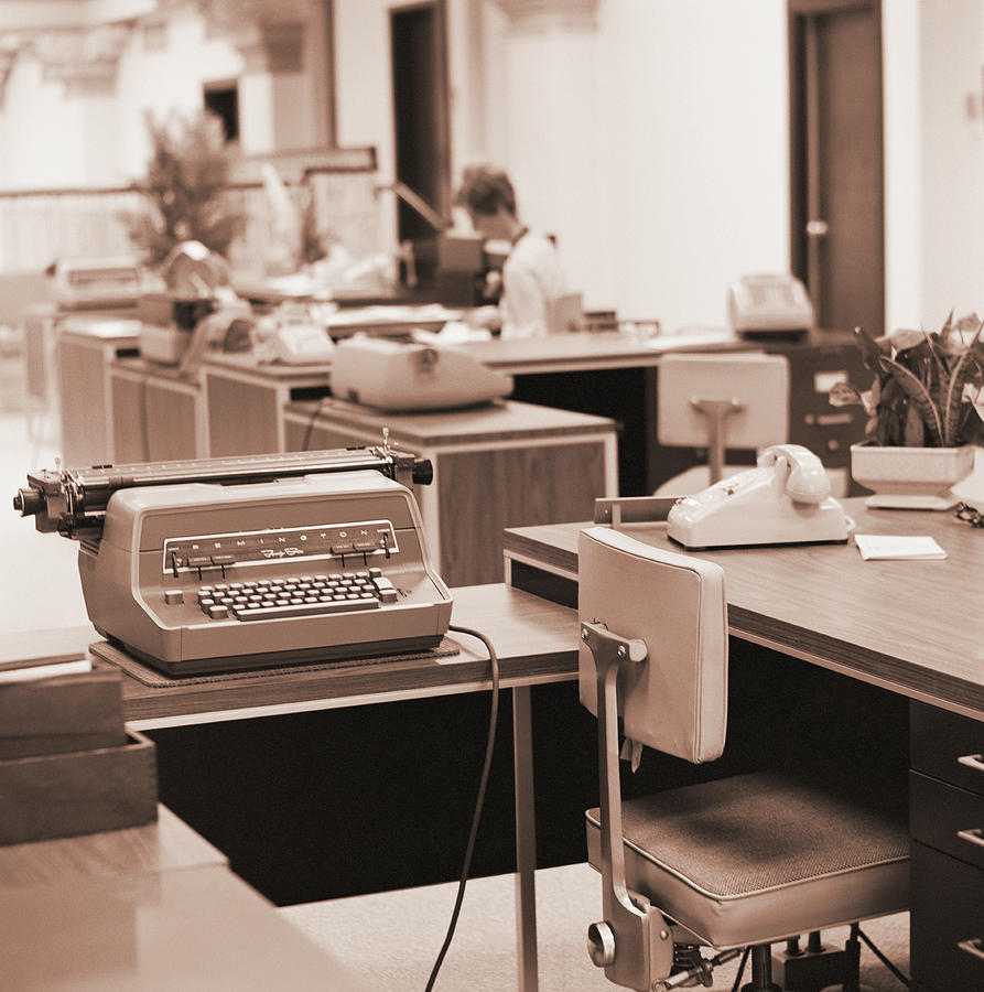 Working Photograph - Typing Pool Workstation by H. Armstrong Roberts
