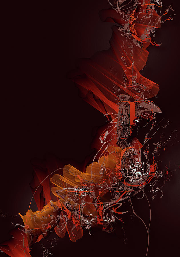 Typographic Ink Digital Art by Jens Karlsson