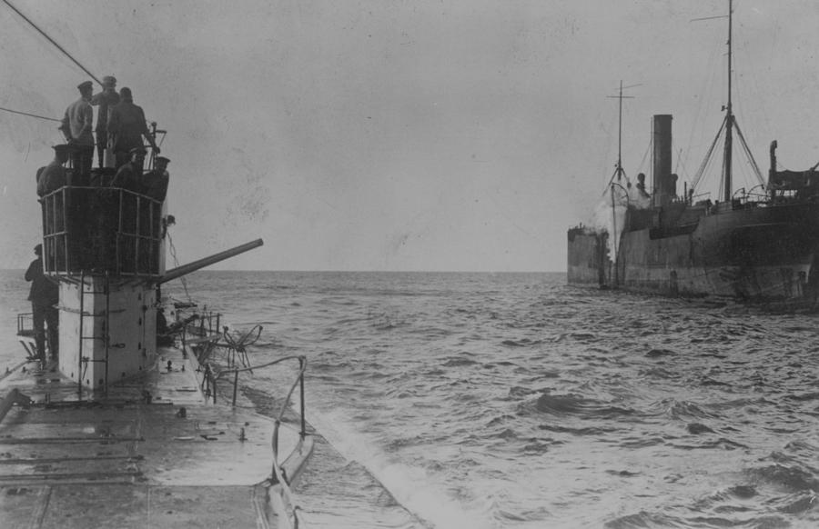 U-boat Attack Photograph by Hulton Archive