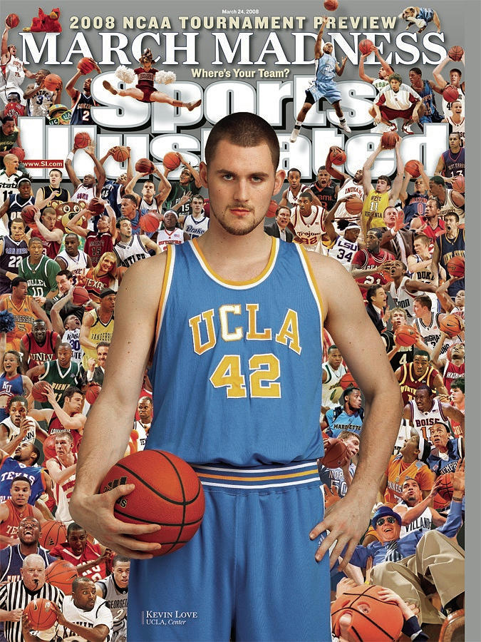 Ucla Kevin Love, 2008 Ncaa Tournament Preview Sports Illustrated Cover Photograph by Sports Illustrated